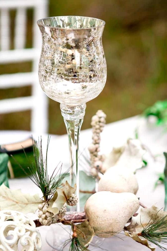 Woodland wedding reception decor