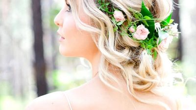 Romantic Woodland Wedding ceremony Inspiration
