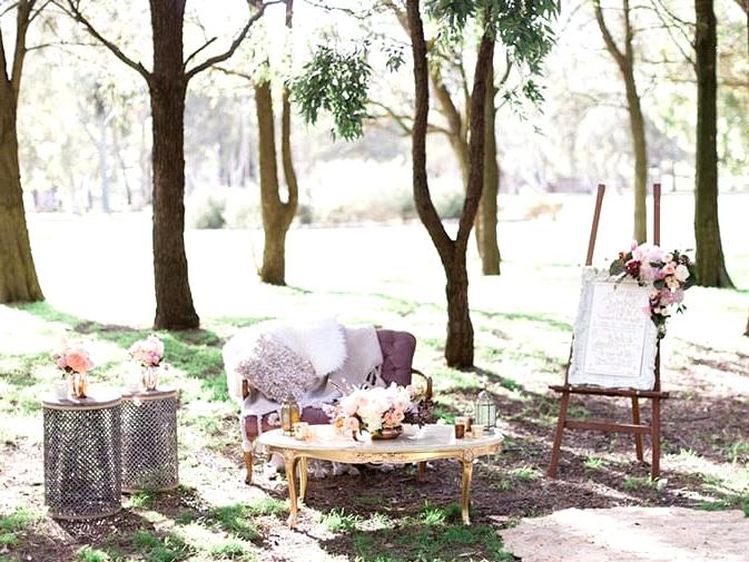 Romantic boho wedding lounge