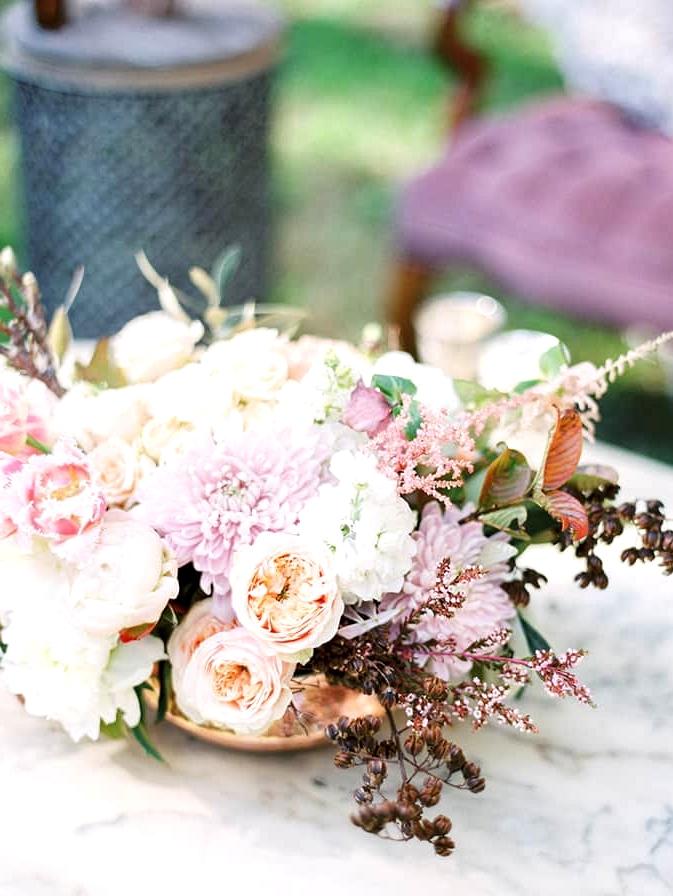 Romantic pastel floral arrangement