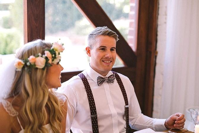 Relaxed-Vintage-Boho-Wedding-Inspiration-Reception-Bride-Groom