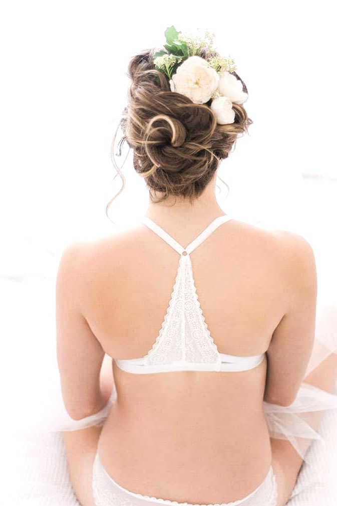 Elegant-Bridal-Boudoir-Inspiration-Relaxed-Updo-with-Flowers