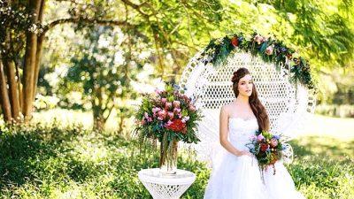 Pure Bohemian Wedding ceremony Inspiration