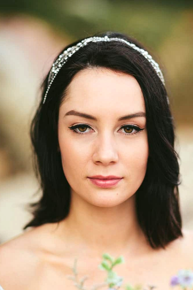 Romantic beach bride hair and makeup