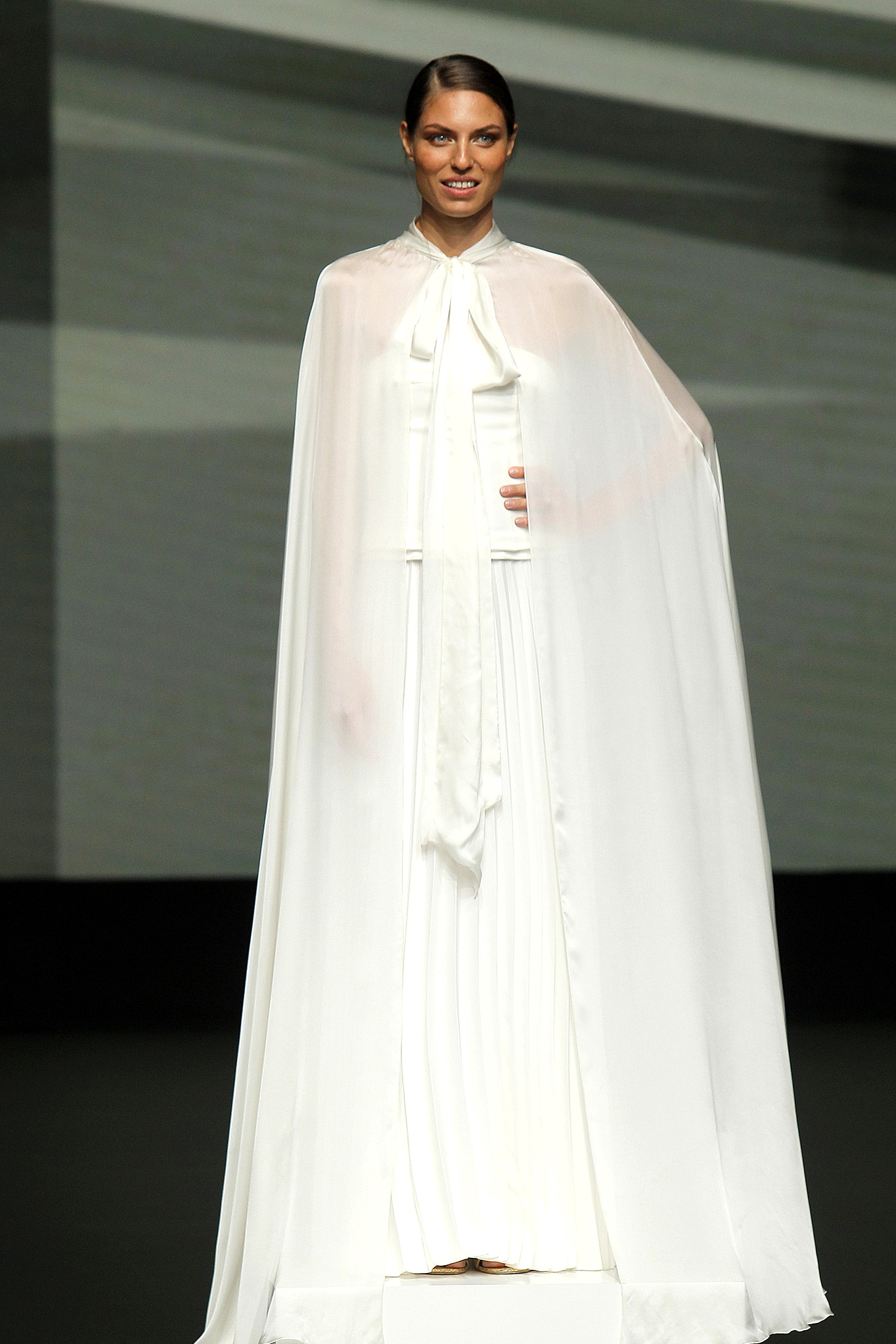 marylise dress with cape