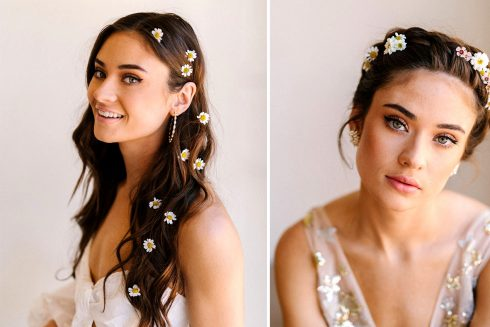 3 Floral Hair DIYs with Fresh Flowers from Trader Joe's!