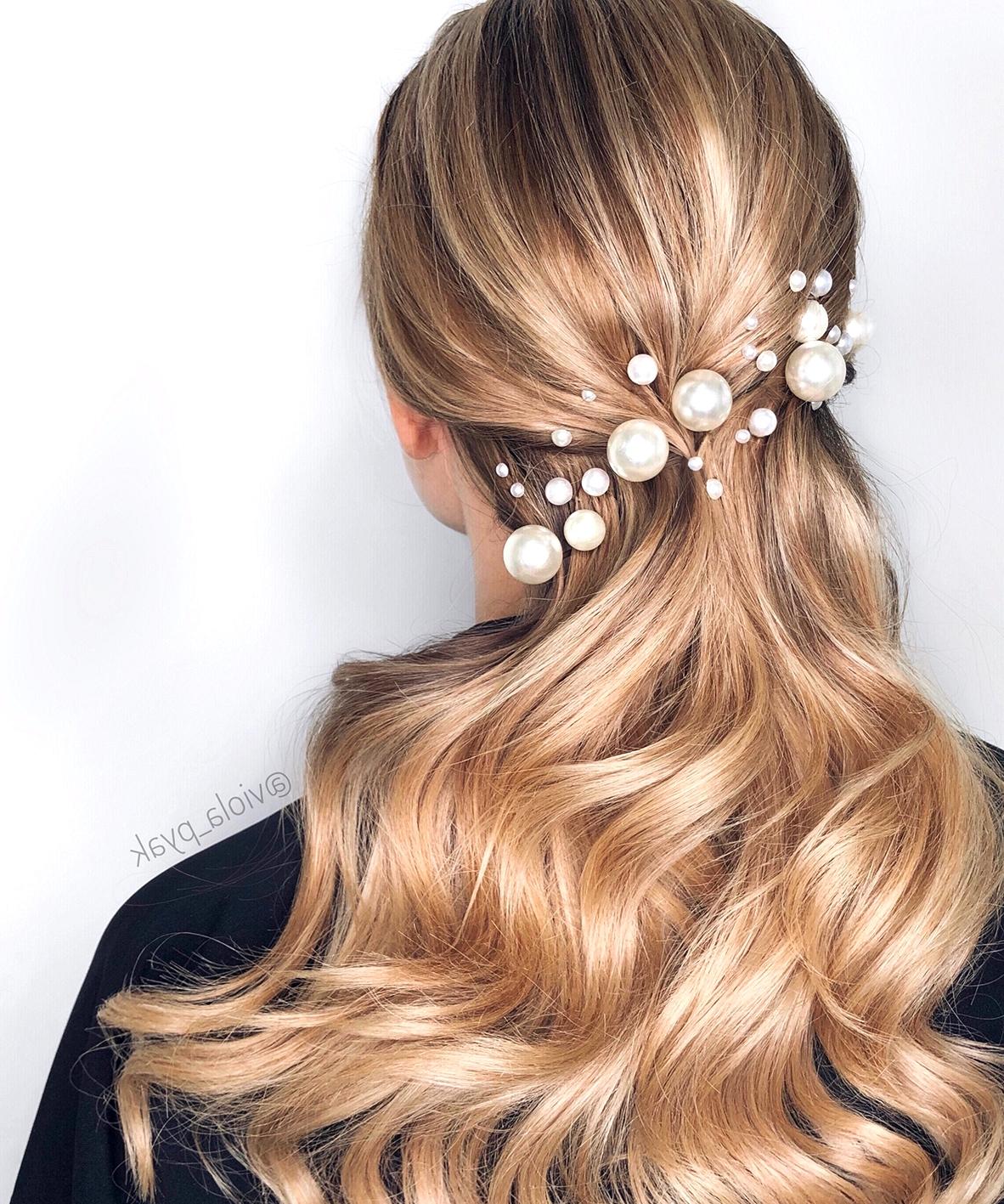 pearl pins bridal hair