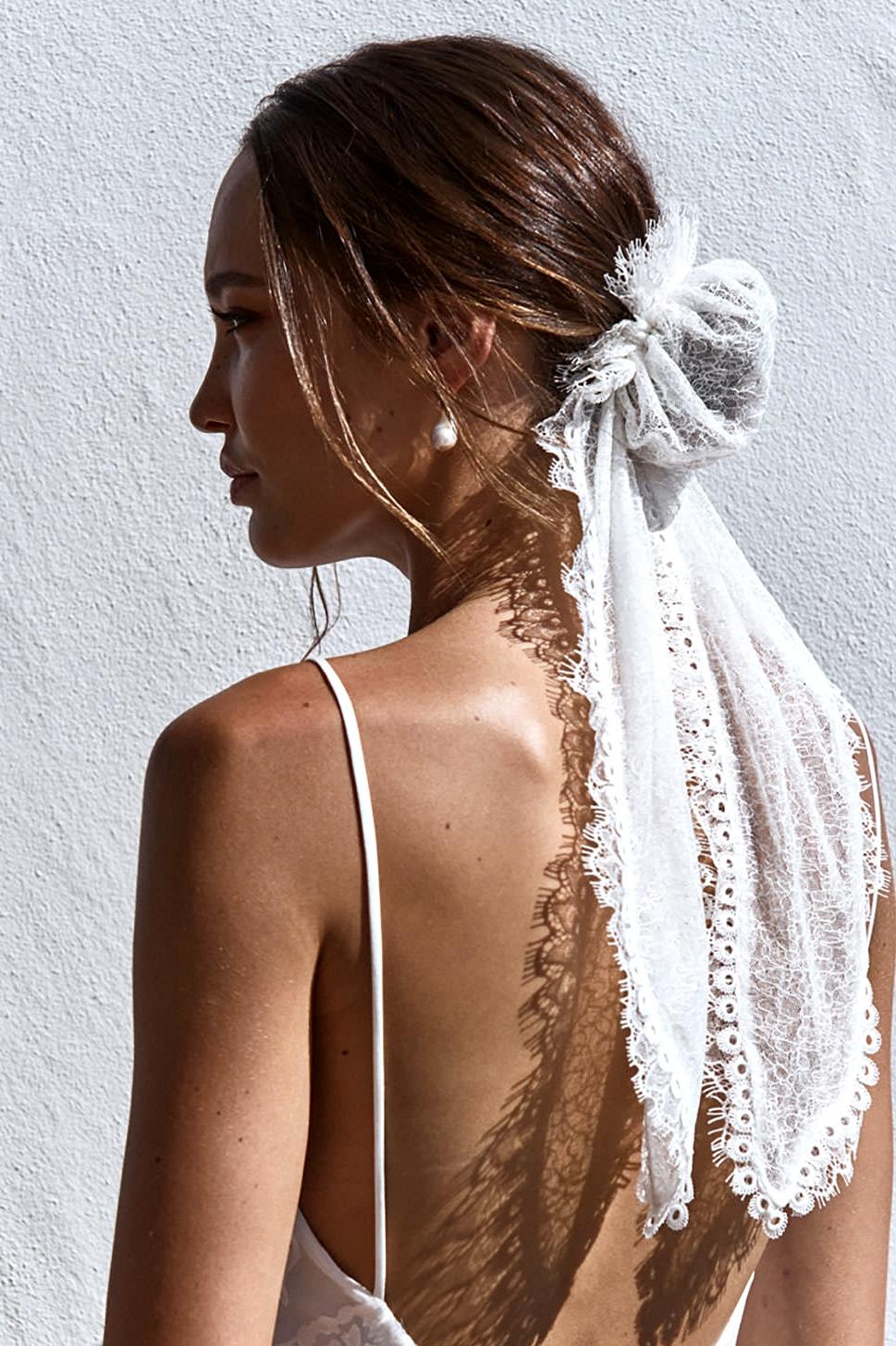 Chantilly Hair Bun, unique hair pieces for brides