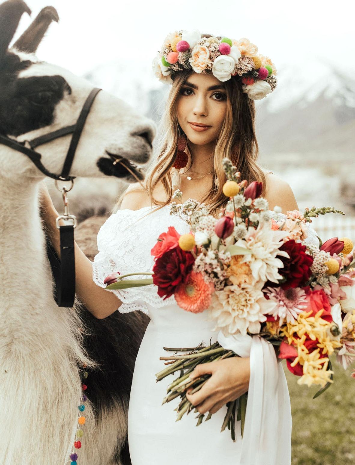 boho flower crown