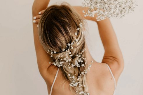 The Prettiest Wedding Hairstyles with Flowers