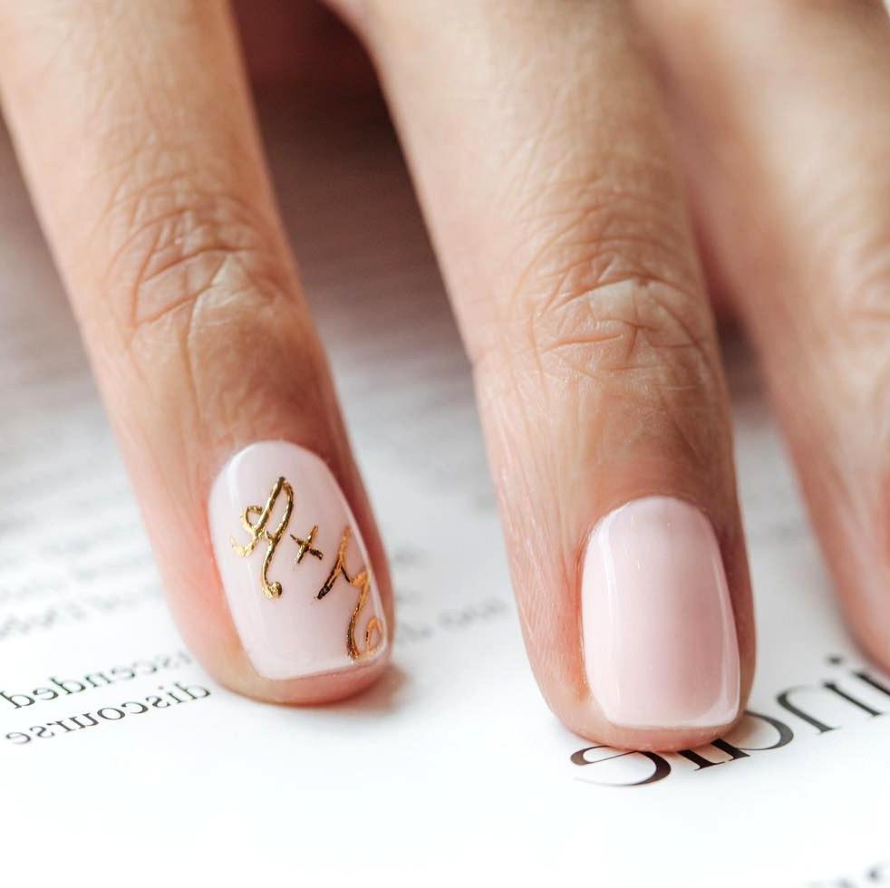 initials wedding manicure