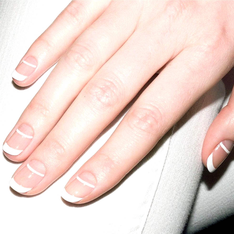 updated french manicure