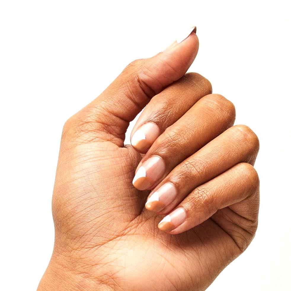 caramel manicure