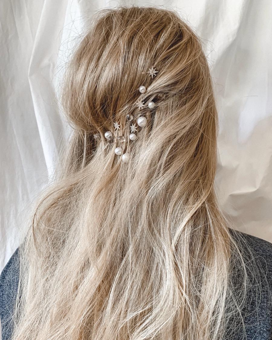 constellation-inspired hair idea
