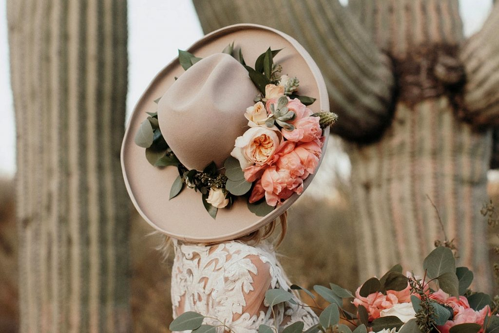 The Next Big Flower Trend is in Bloom: Floral Bridal Hats!