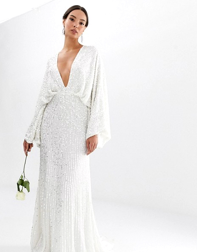 ASOS Sequin Wedding Dress