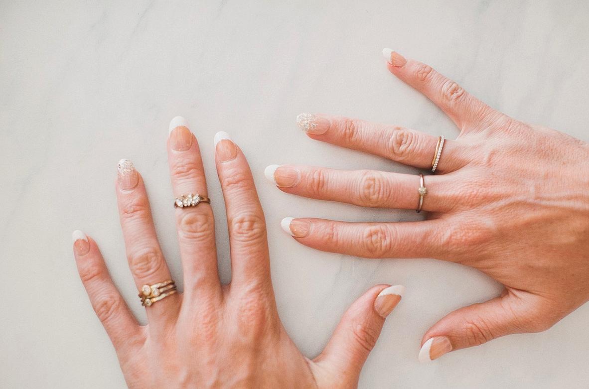 bridal nails DIY with imPRESS nails