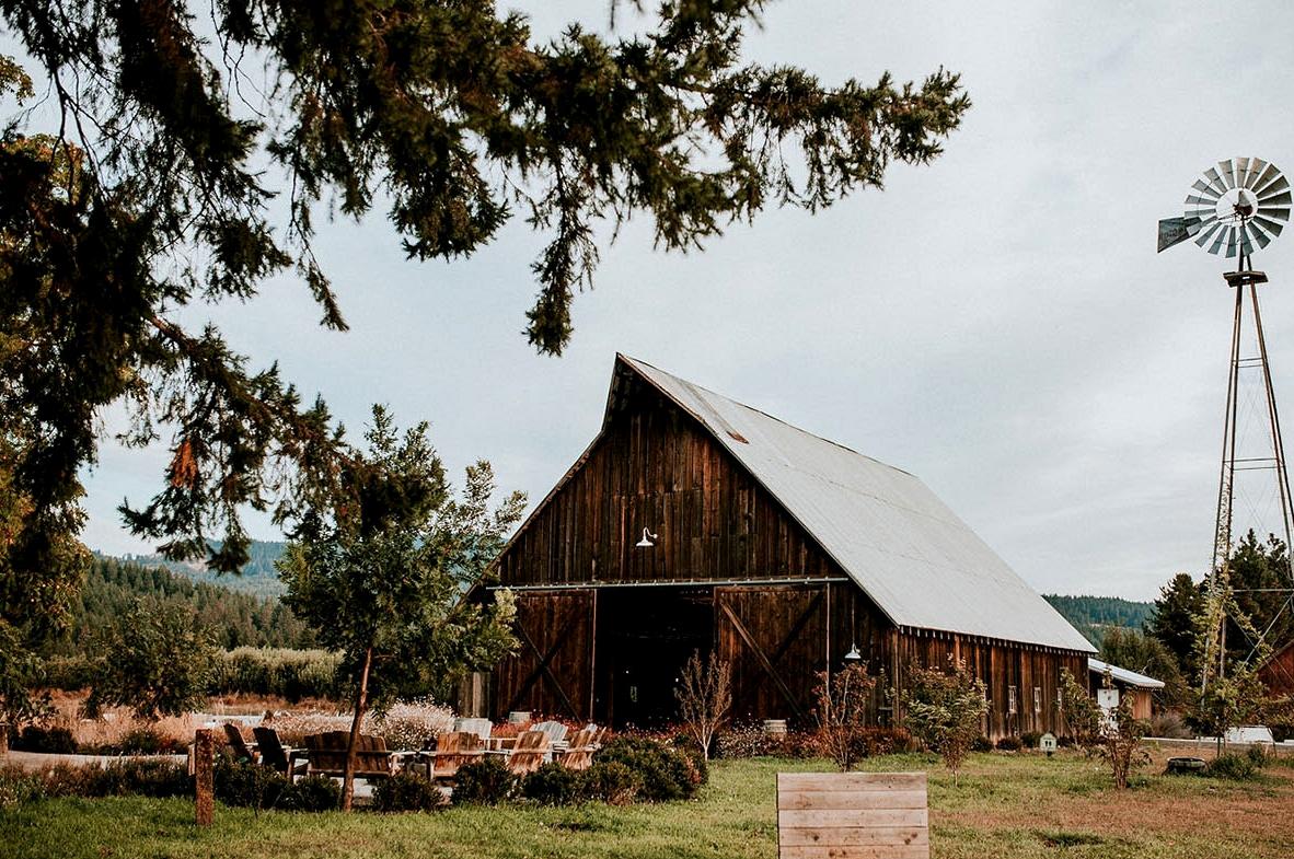 Floral Oregon Barn Wedding