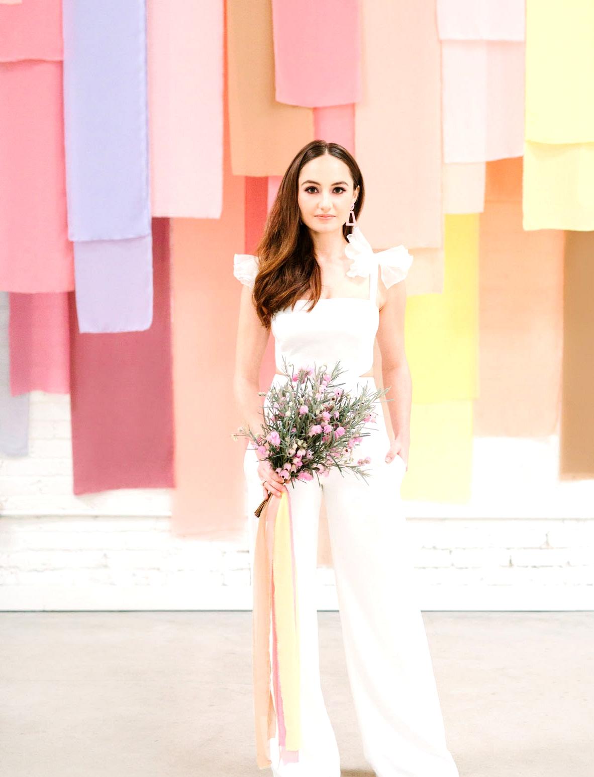 white wedding jumpsuit