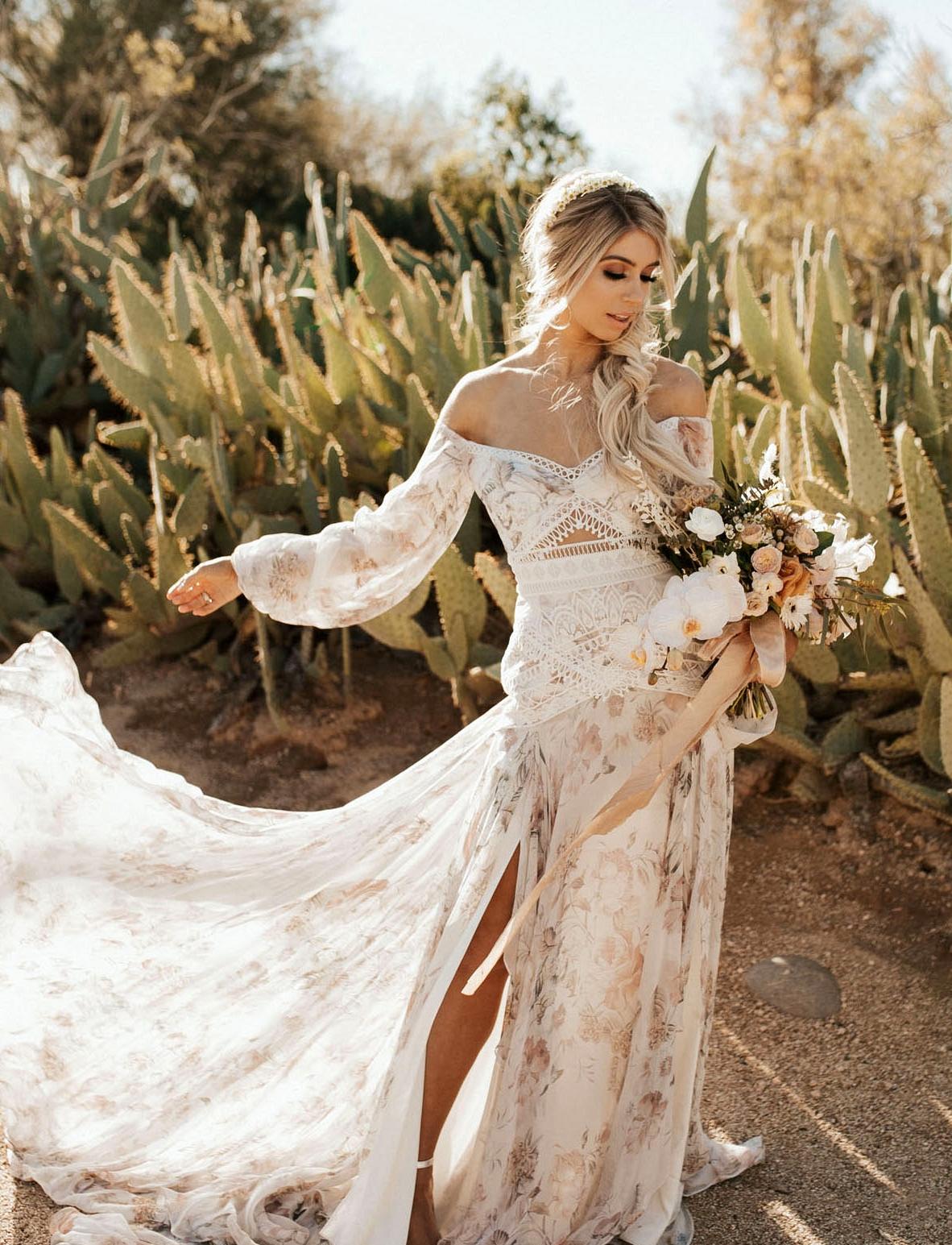 Rue de Seine floral wedding dress