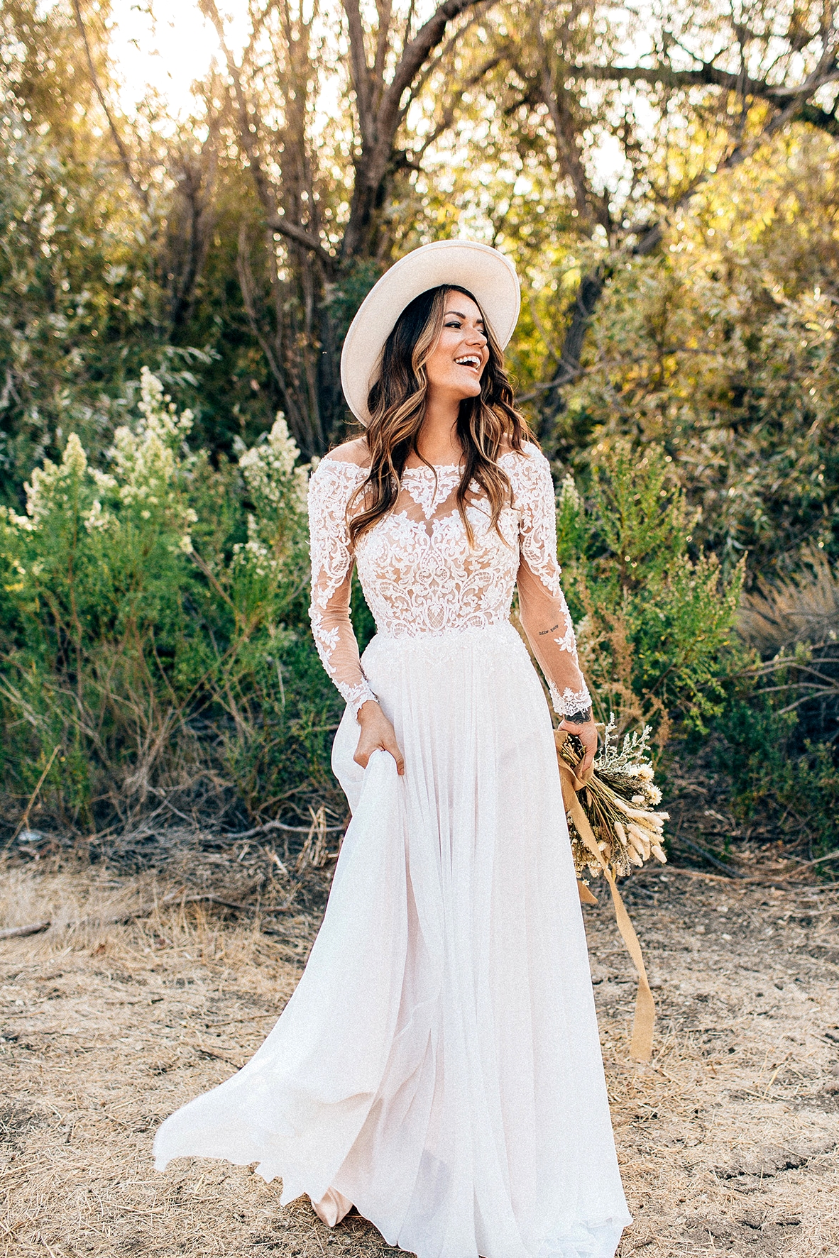Maggie Sottero Lace Long Sleeve Wedding Dress Madilyn