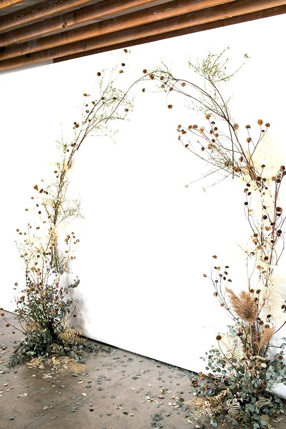 Dried Wedding Flower Inspiration | www.onefabday.com