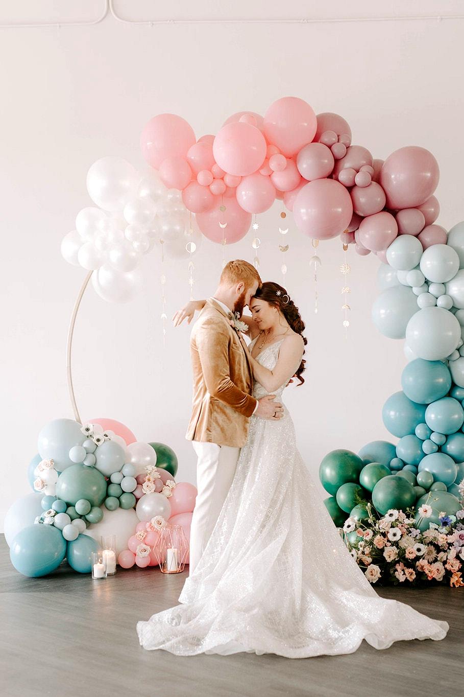 Balloon ceremony backdrop |