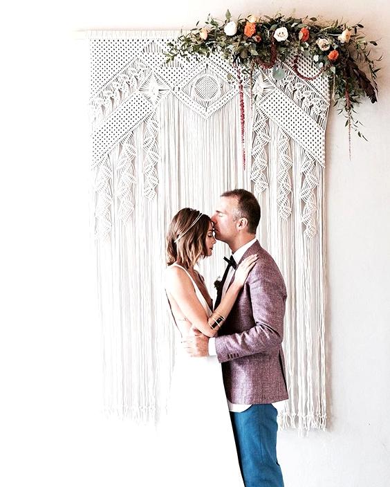 Macrame wedding ceremony decor |