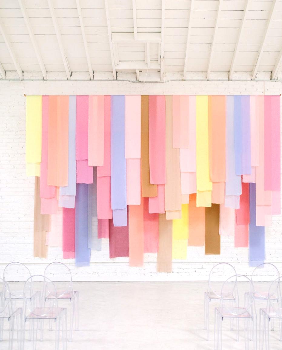 Pastel Fabric Ceremony Backdrop |