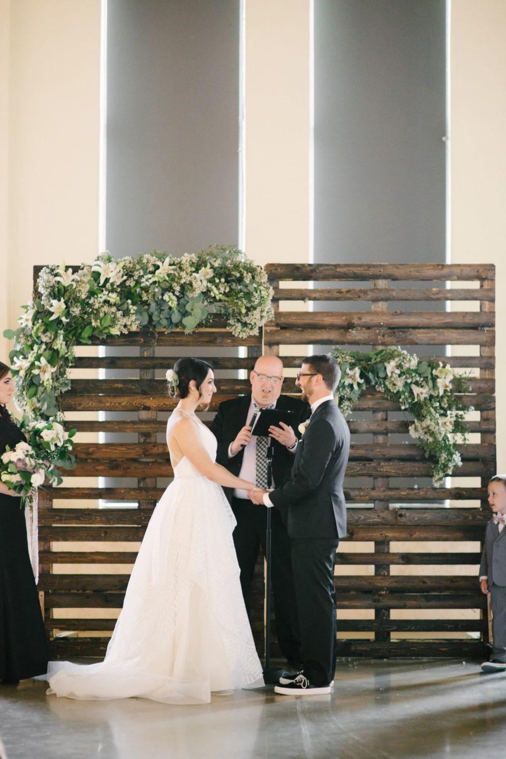 Rustic Ceremony Backdrop Idea |