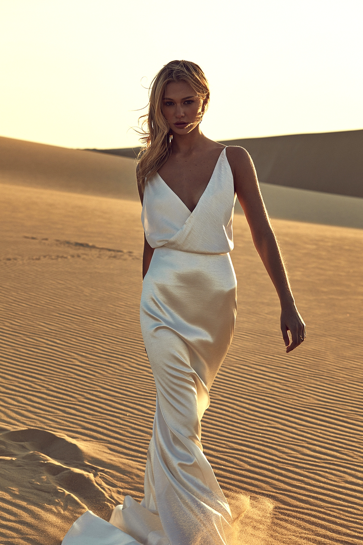 modern wedding dress from CHOSEN by One Day Desert Rose Collection