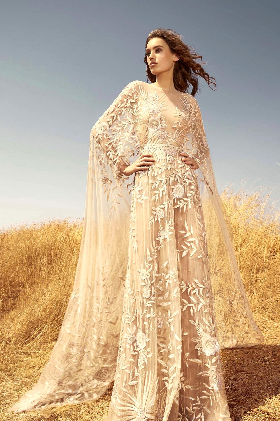 Zuhair Murad cape wedding dress