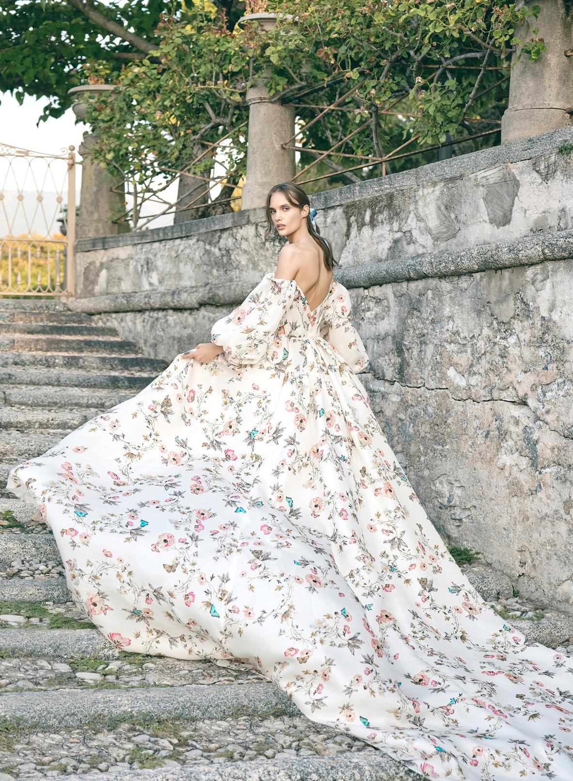 Monique Lhuillier Floral Wedding Dress