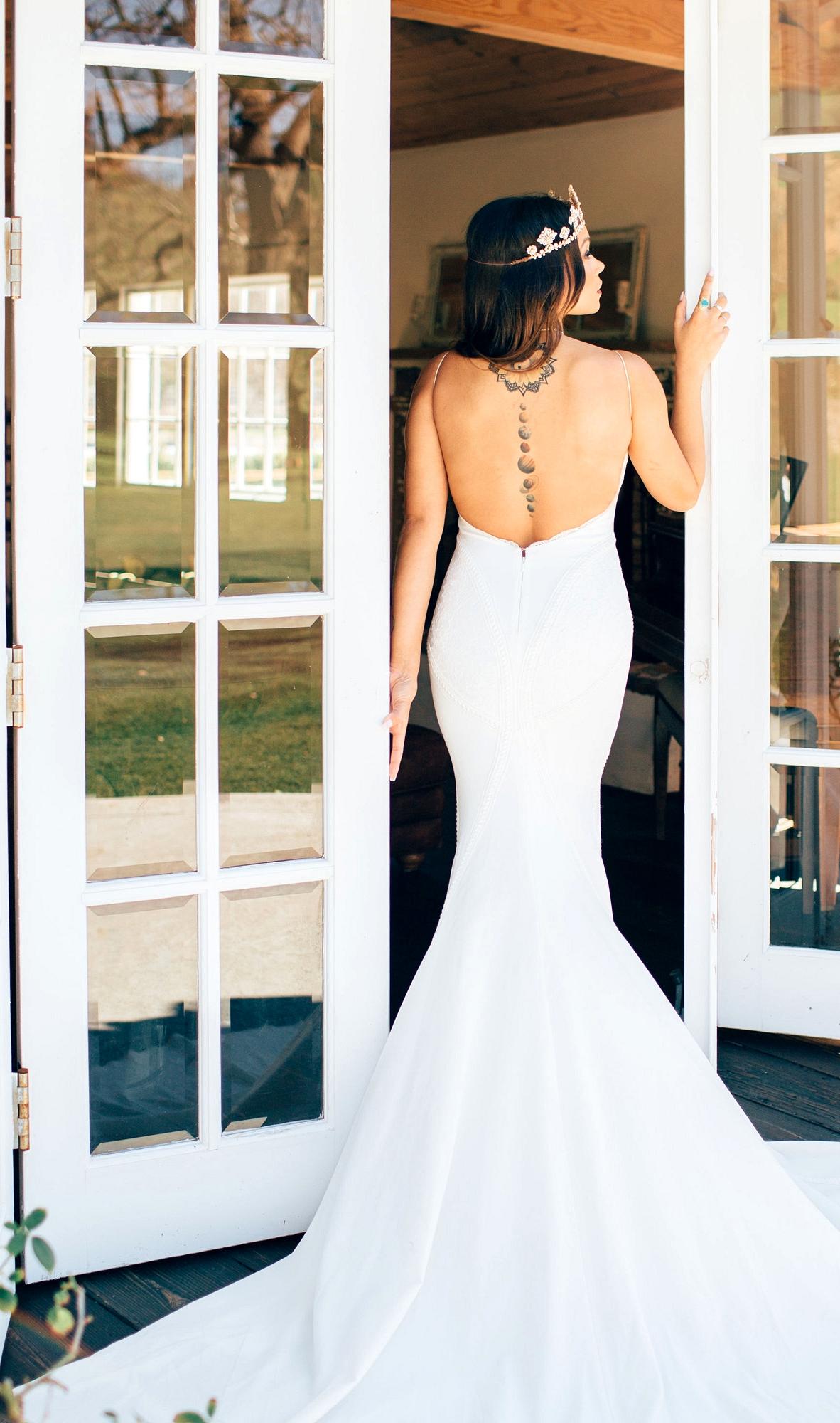 Lovers Society x Green Wedding Shoes Wyatt Wedding Dress backside