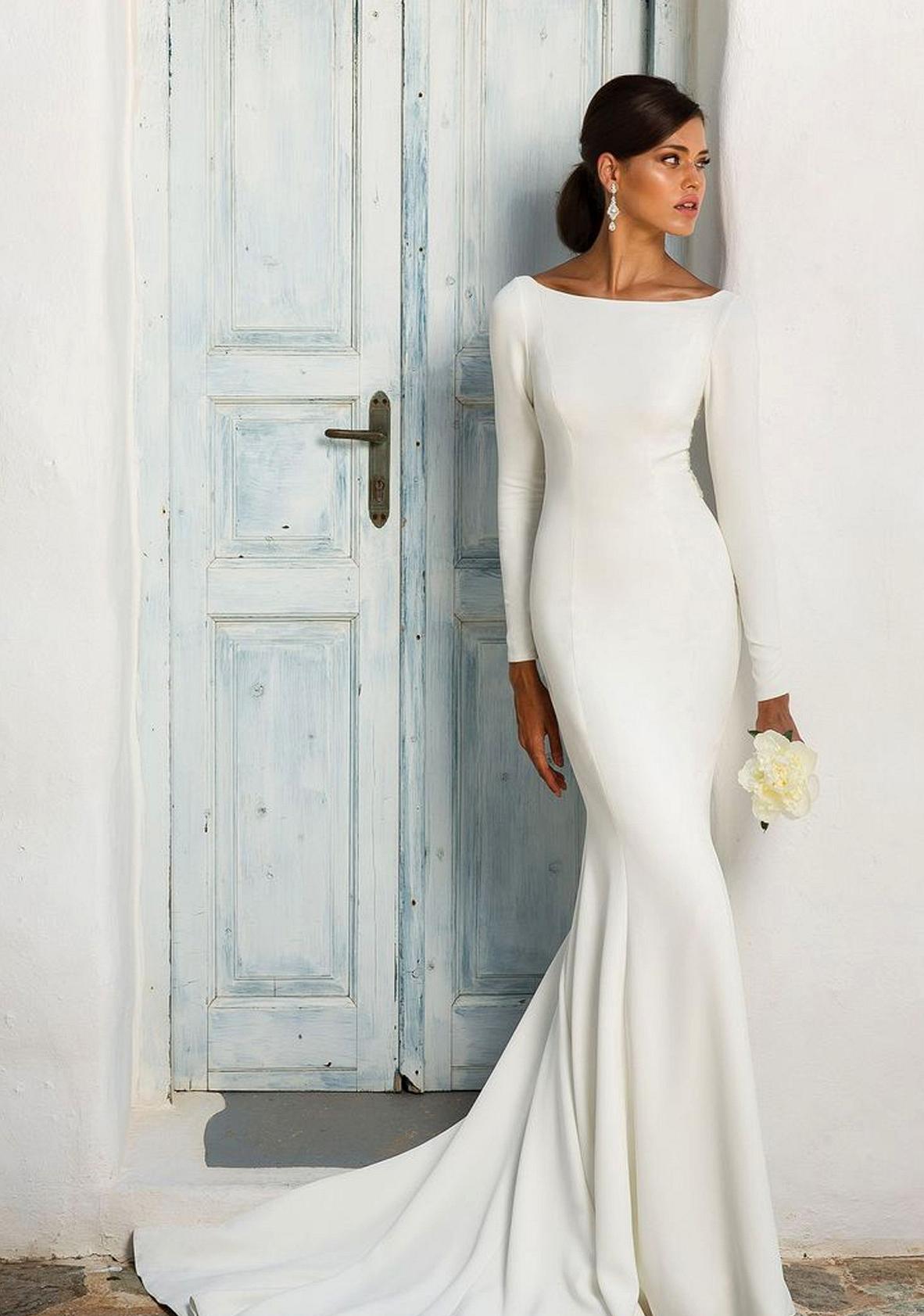 justin alexander long sleeve dress