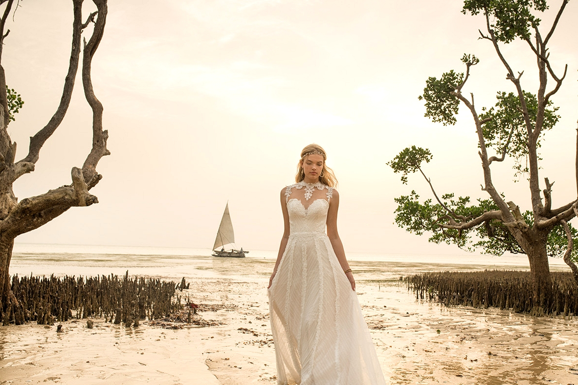 whispers & echos wedding dresses from bhldn