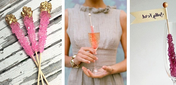 Rock Candy // 14 Sweet Edible Wedding Favour Ideas // www.onefabday.com