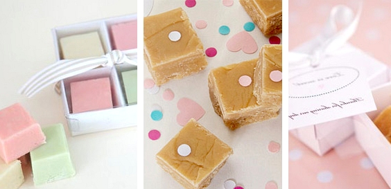 Fudge // 13 Sweet Edible Wedding Favour Ideas // www.onefabday.com