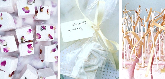 Marshmallows // 14 Sweet Edible Wedding Favour Ideas // www.onefabday.com