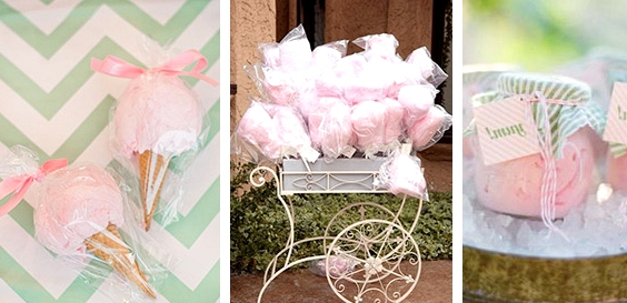 Candy Floss // 13 Sweet Edible Wedding Favour Ideas // www.onefabday.com