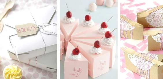 Box up your wedding cake // 14 Sweet Edible Wedding Favour Ideas // www.onefabday.com