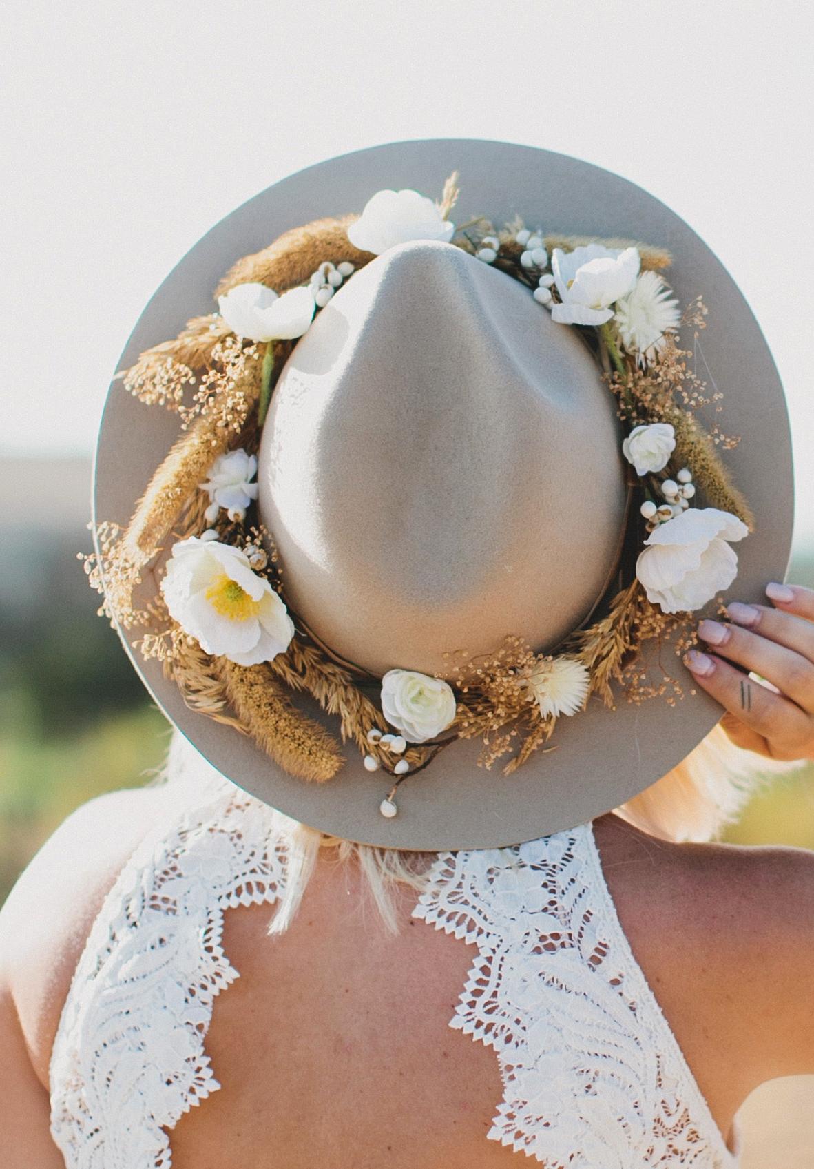 DIY Silk Floral Hat