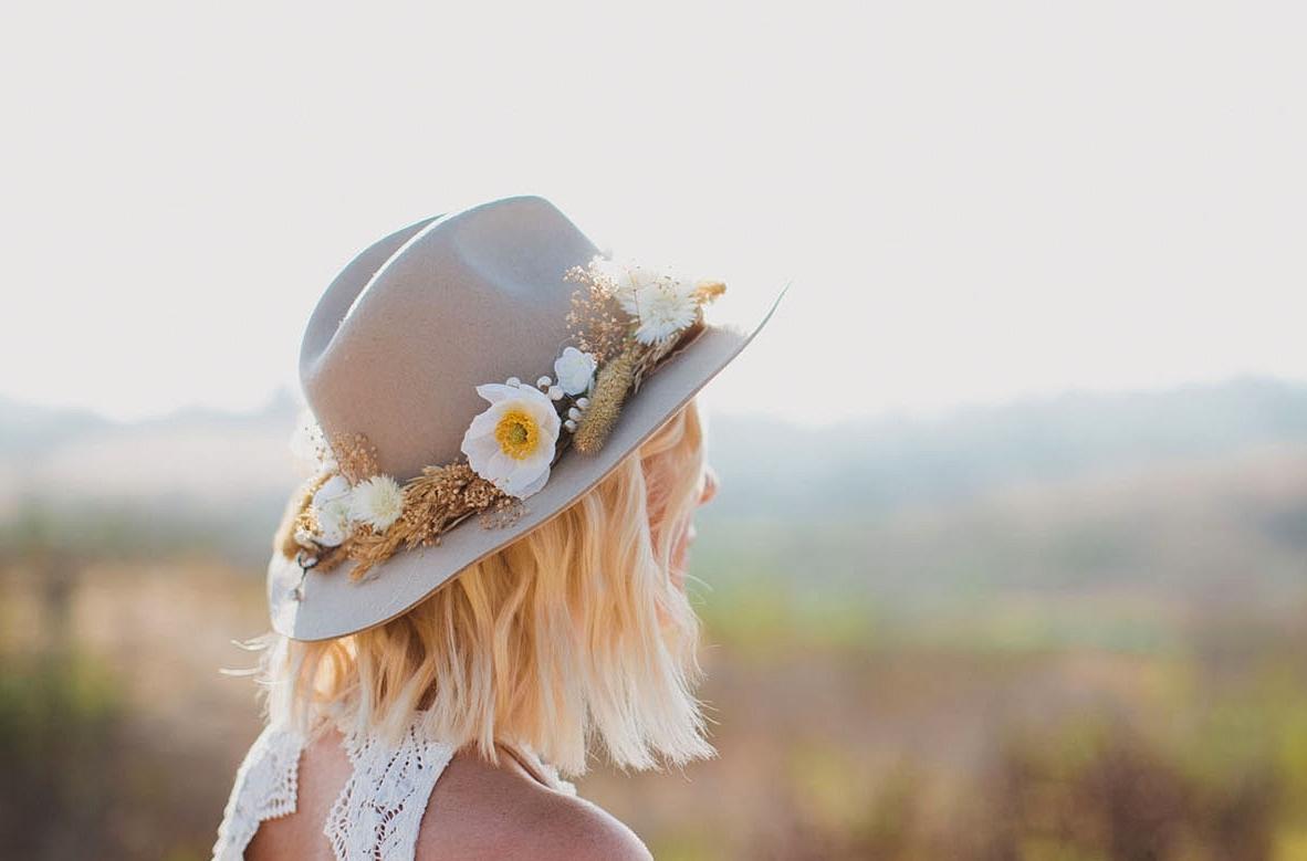 DIY Flower Hat (with afloral)