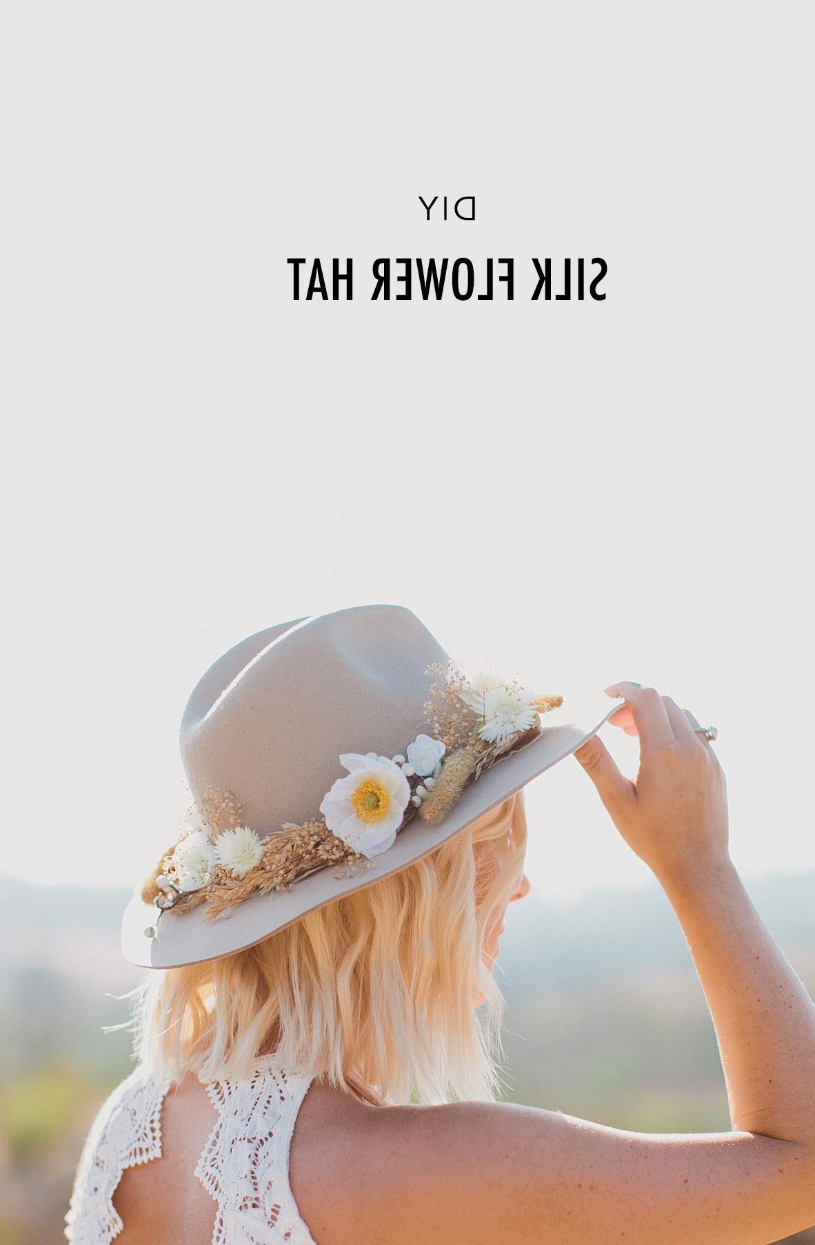 DIY Silk Flower Hat