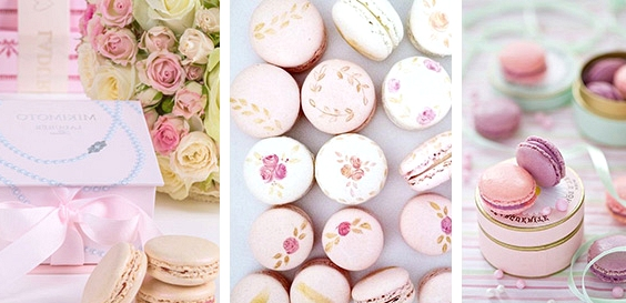 Macarons // 13 Sweet Edible Wedding Favour Ideas // www.onefabday.com
