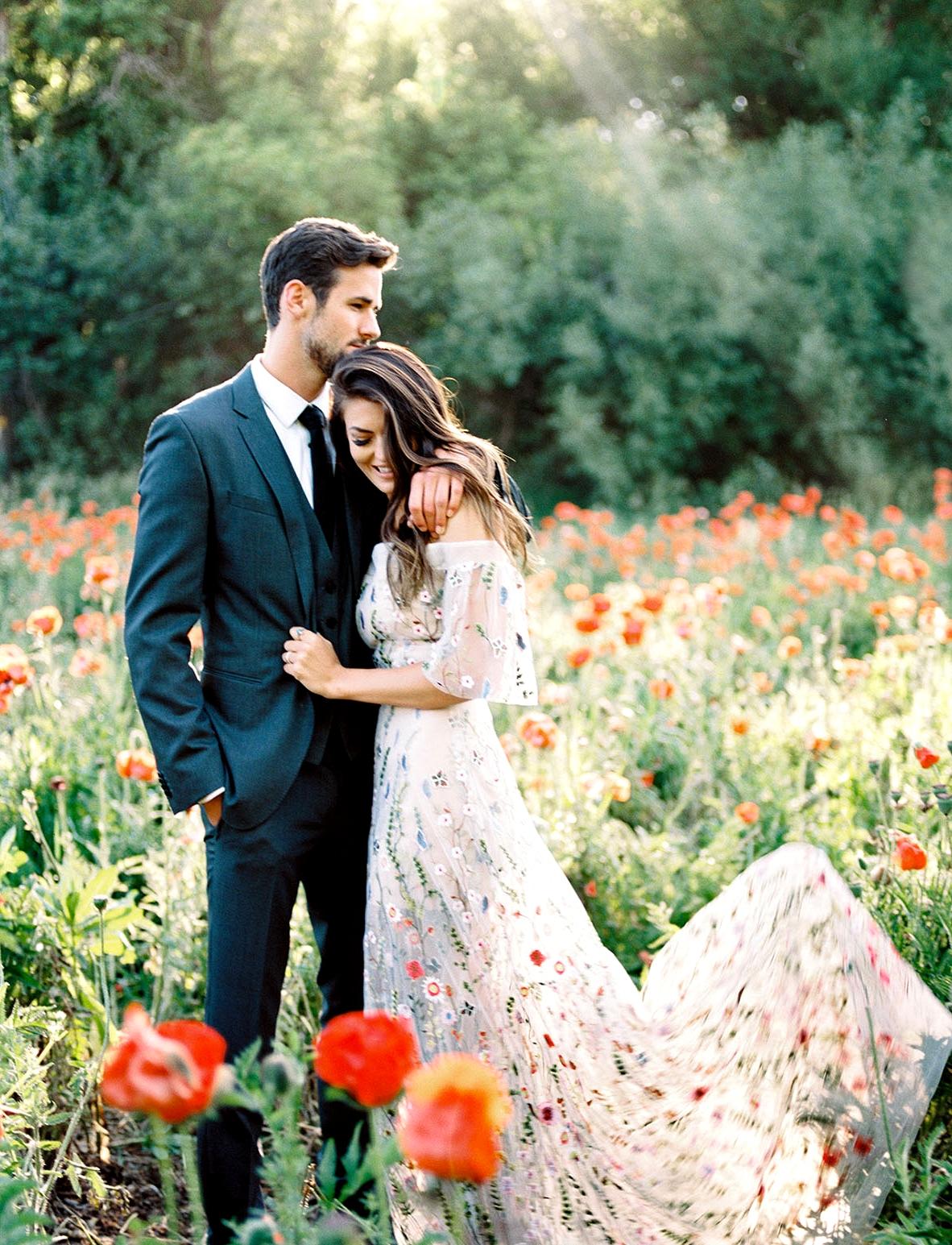 Wildflower Gown Wedding Inspiration