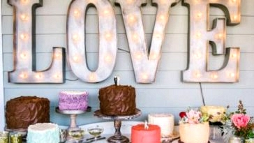 Love in Lights: Marquee Letters & Wedding ceremony Indicators