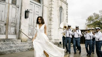 Alexandra Grecco Marriage ceremony Robes Captured in New Orleans