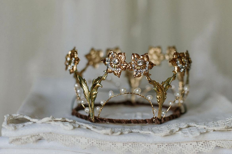 gold tiara