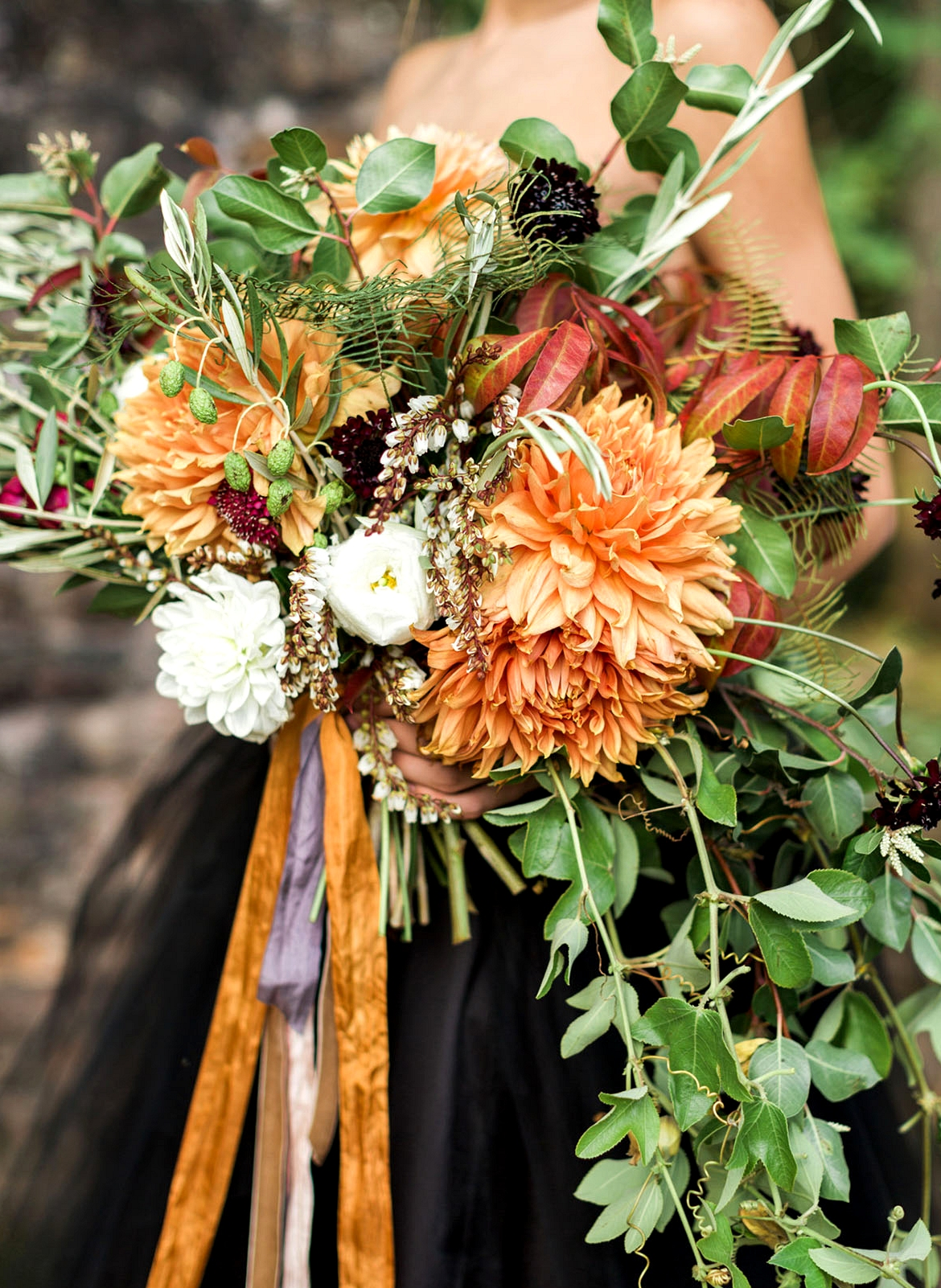 Fall orange bouquet